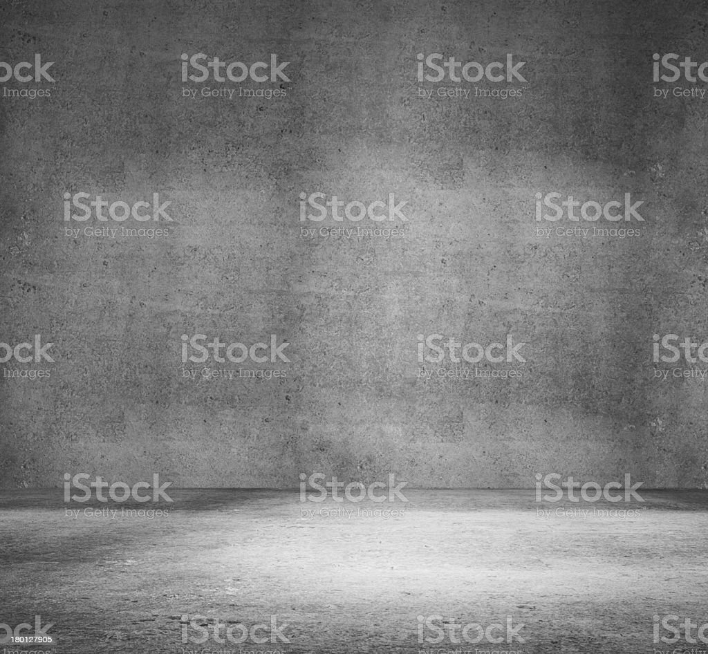 concrete room stock photo