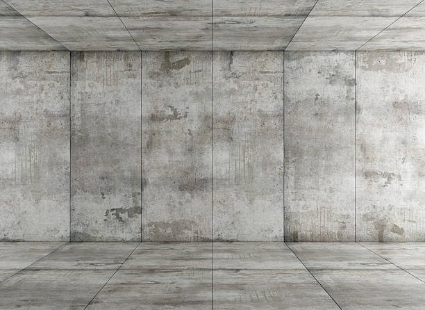 concrete room - cement floor stock photos and pictures