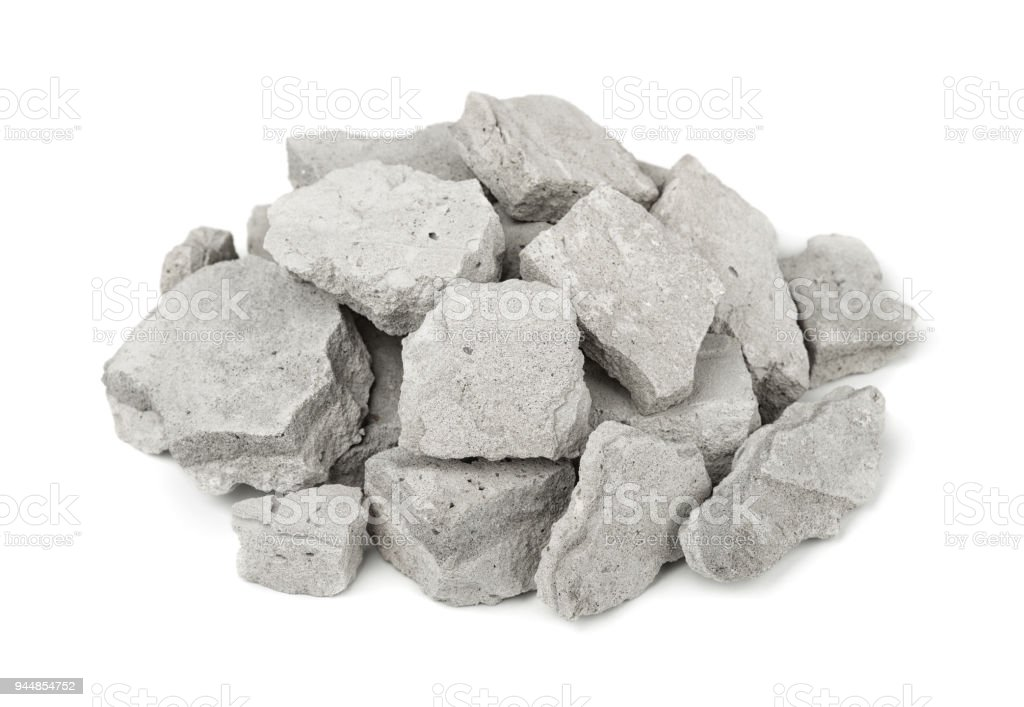 Concrete rubble stock photo