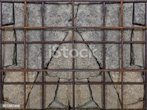 636061068 istock photo Concrete & rusty iron textured wall 601367446