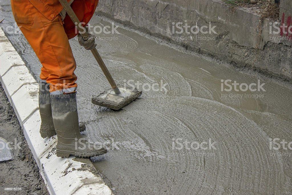 Concrete Screeding stock photo