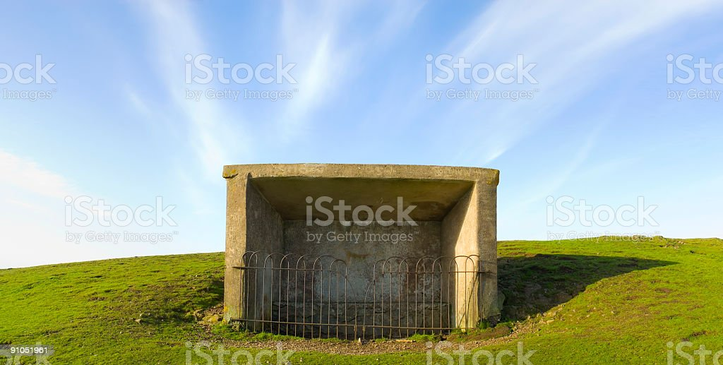 Concrete shelter royalty-free stock photo