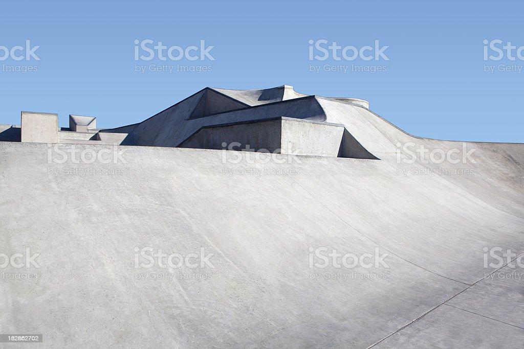 concrete skate park stock photo