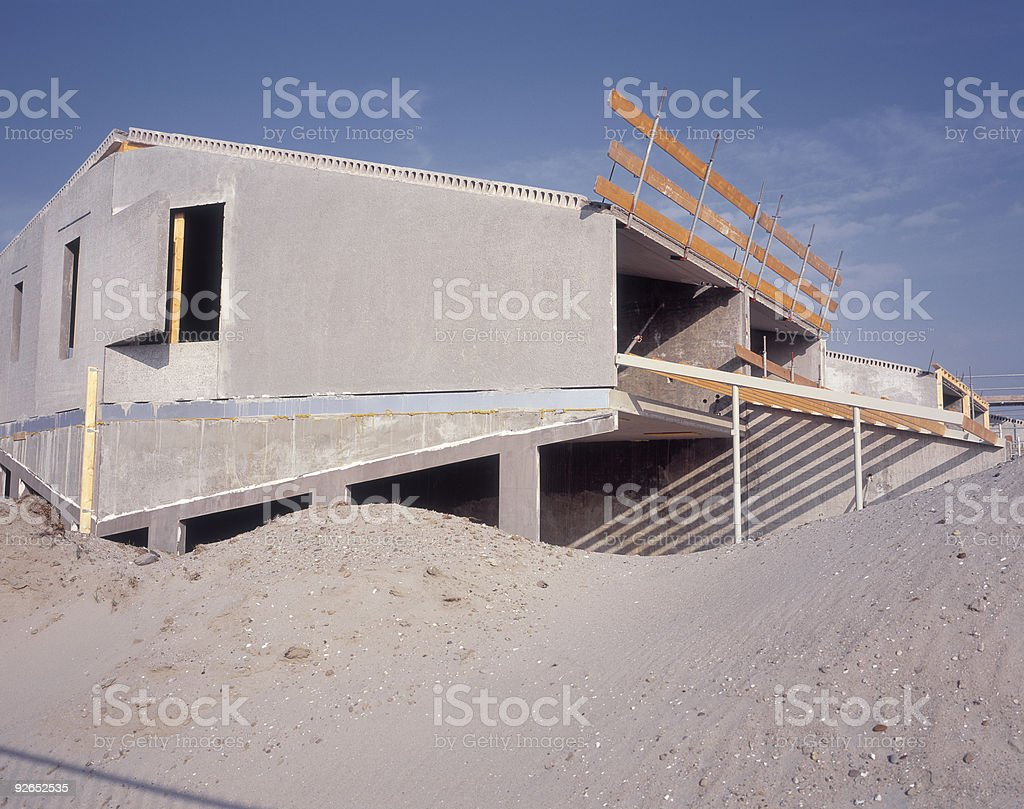 Concrete Skeleton stock photo