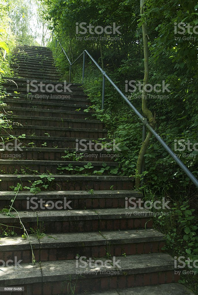 concrete staircase outside royalty-free stock photo