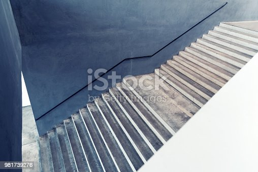 Concrete stairs – Abstract background concept – Digitally edited image