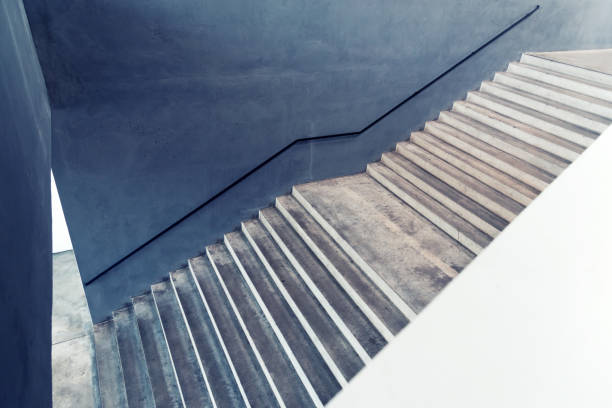 Betontreppen-abstrakten Hintergrund Konzept – Foto