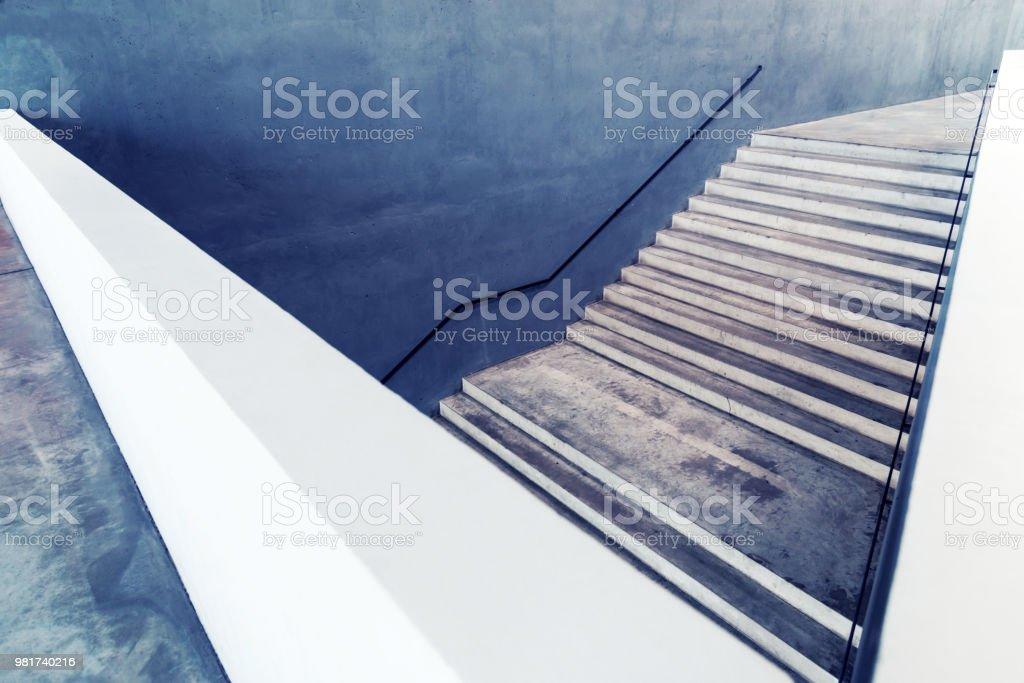 Betontreppen-abstrakten Hintergrund Konzept - Lizenzfrei Abstrakt Stock-Foto