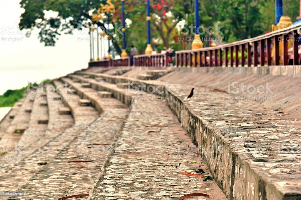 Concrete stairs stock photo