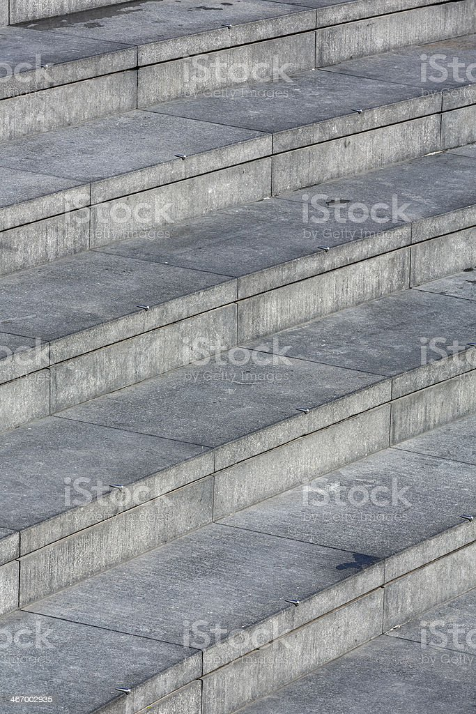 Concrete steps royalty-free stock photo
