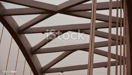 Concrete structures of a bridge isolated unique stock photo