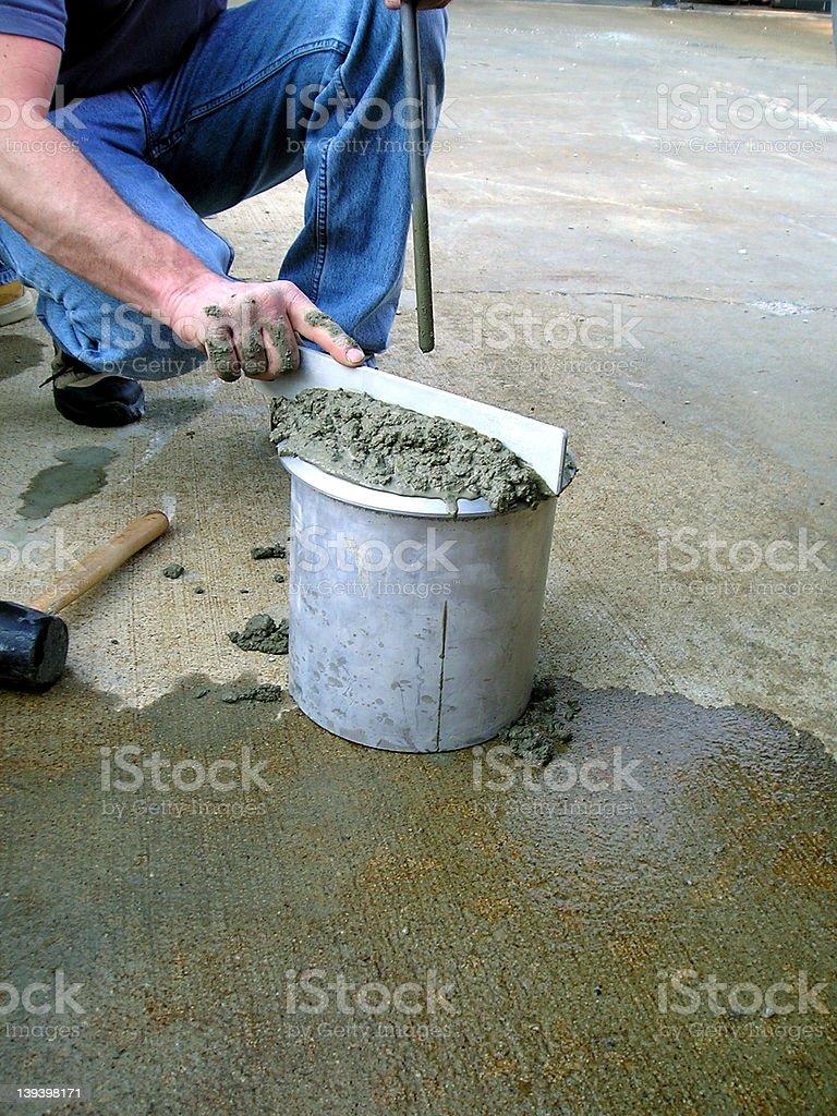 Concrete Testing 4 royalty-free stock photo