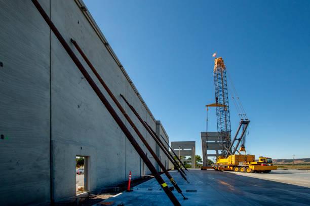 Concrete Tiltup Construction stock photo