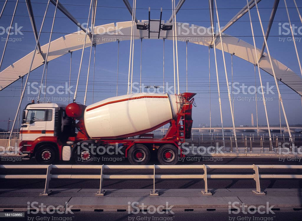 Concrete Truck stock photo