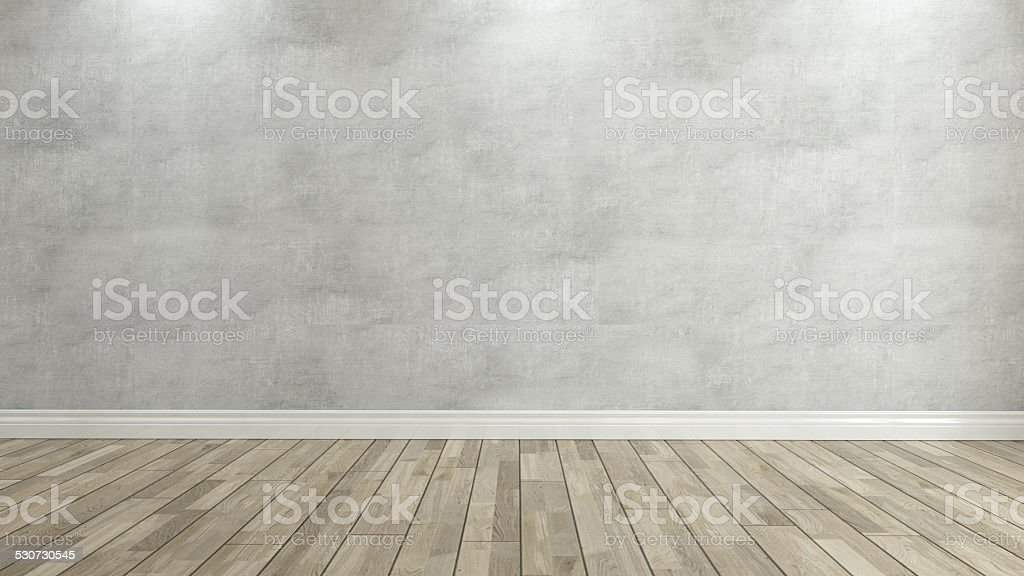 concrete wall 3d rendering stock photo