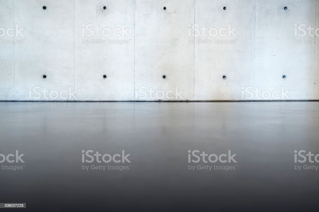 Concrete Wall And Floor – Room Interior stock photo