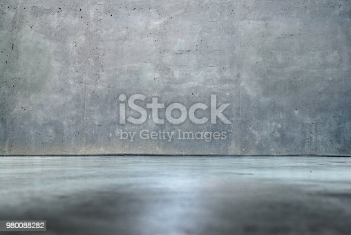Concrete wall and floor – Room interior