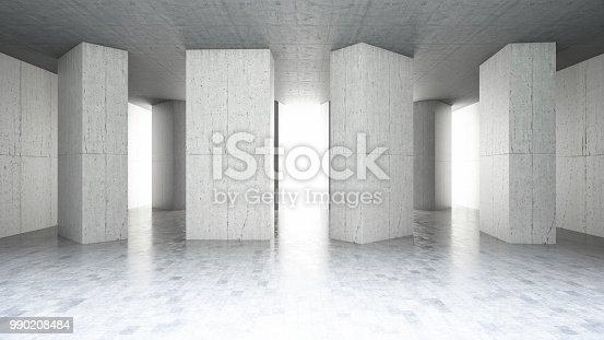 840777964istockphoto Concrete Wall Asymmetric Shape 990208484