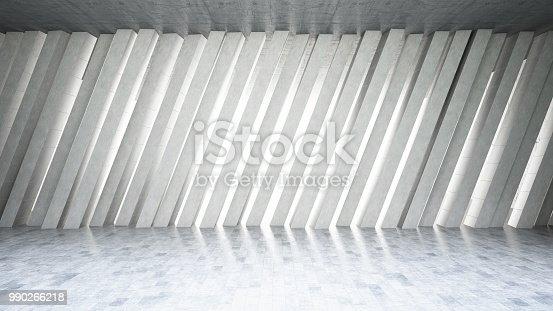 840777964istockphoto Concrete Wall Asymmetric Shape 990266218