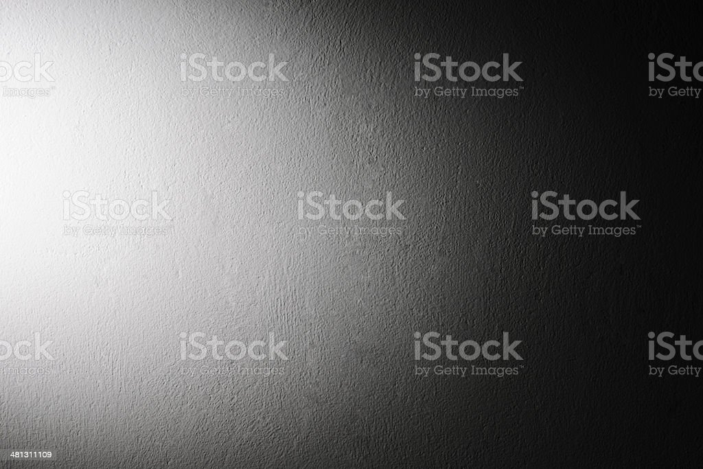 Concrete wall texture background with spotlight stock photo