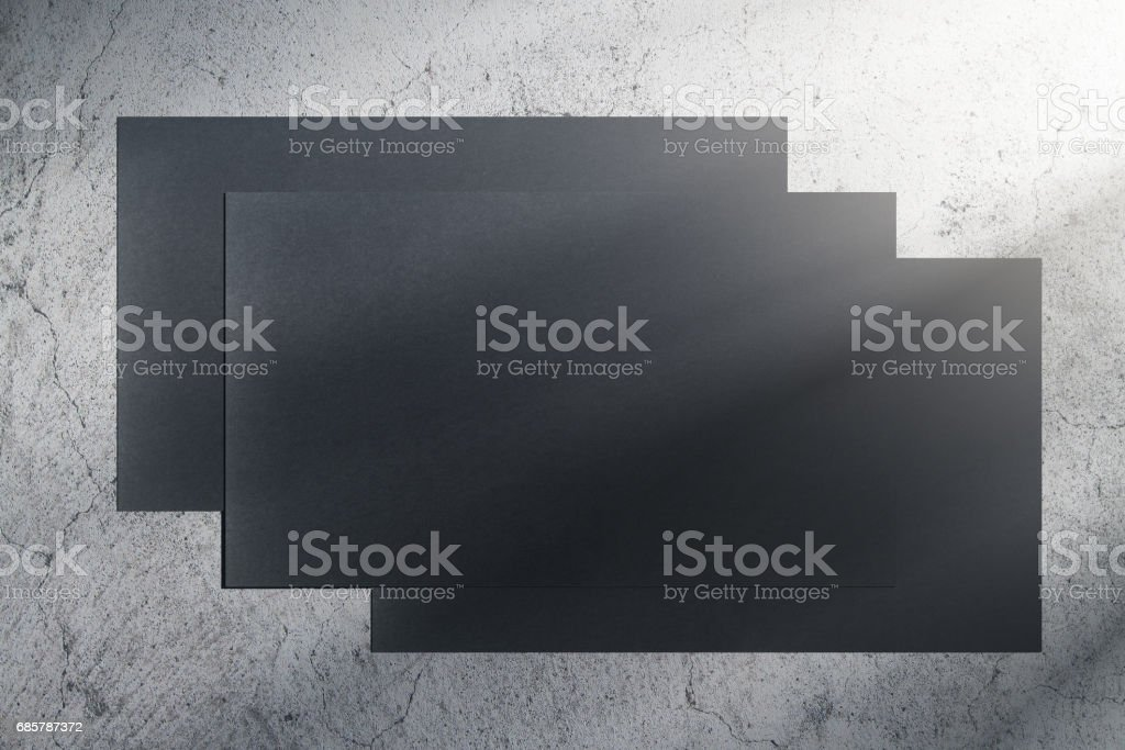 Concrete wall with black banners royalty-free stock photo