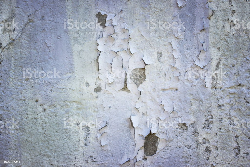 Concrete Wall With Exfoliating Putty Stock Photo & More Pictures of  Architecture