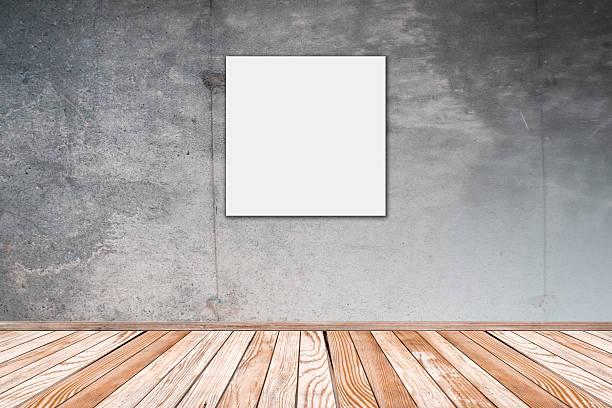 Betonwand mit Foto-Platz – Foto