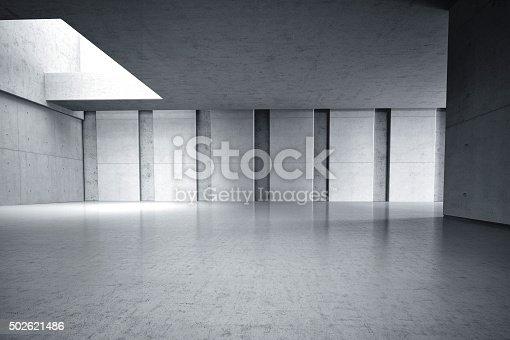 istock Concrete walls room internal 3D 502621486