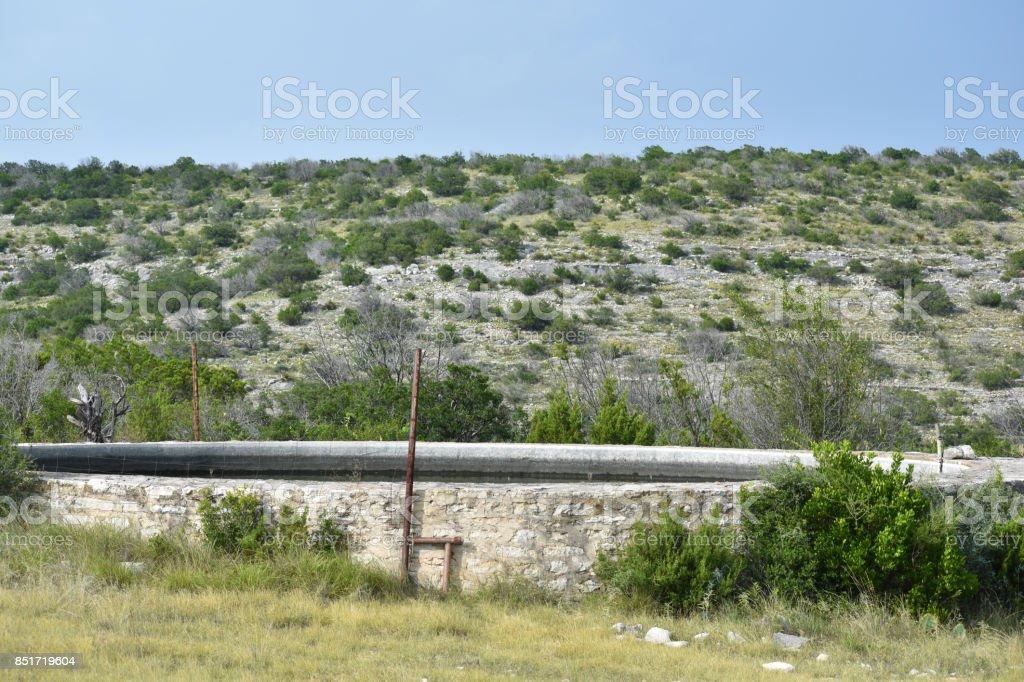 Concrete Water Pila stock photo