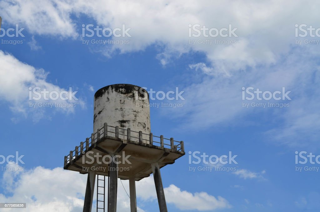 Concrete water tower tank royalty-free stock photo