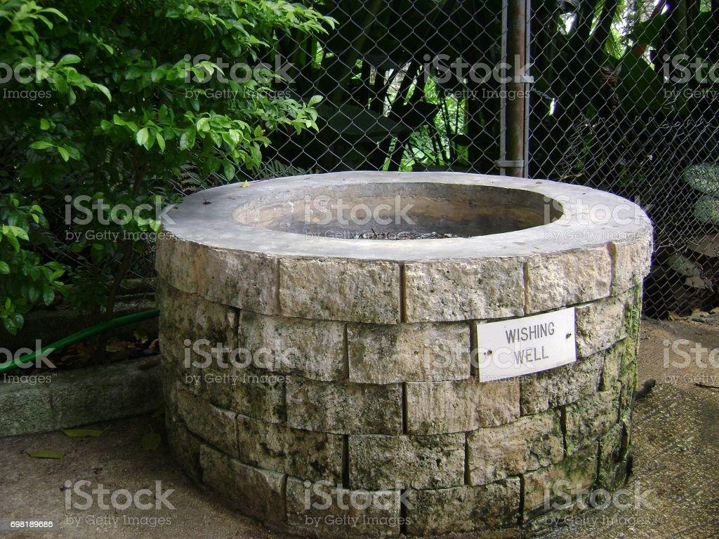Concrete wishing well