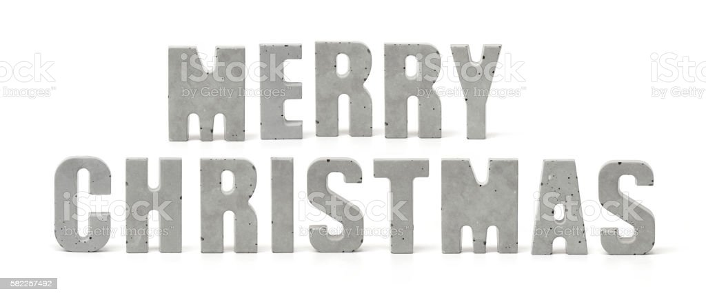Concrete Words Merry Christmas Stock Photo & More Pictures of ...