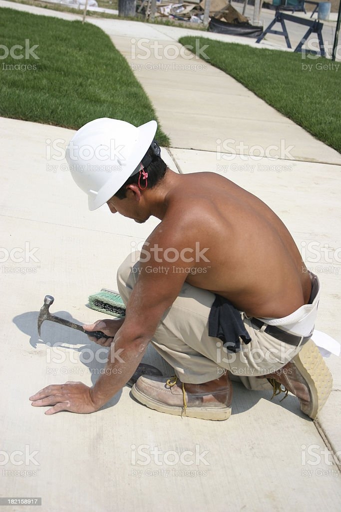 Concrete Work Vertical royalty-free stock photo