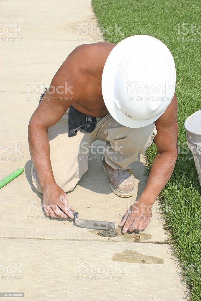 Concrete Work Vertical stock photo