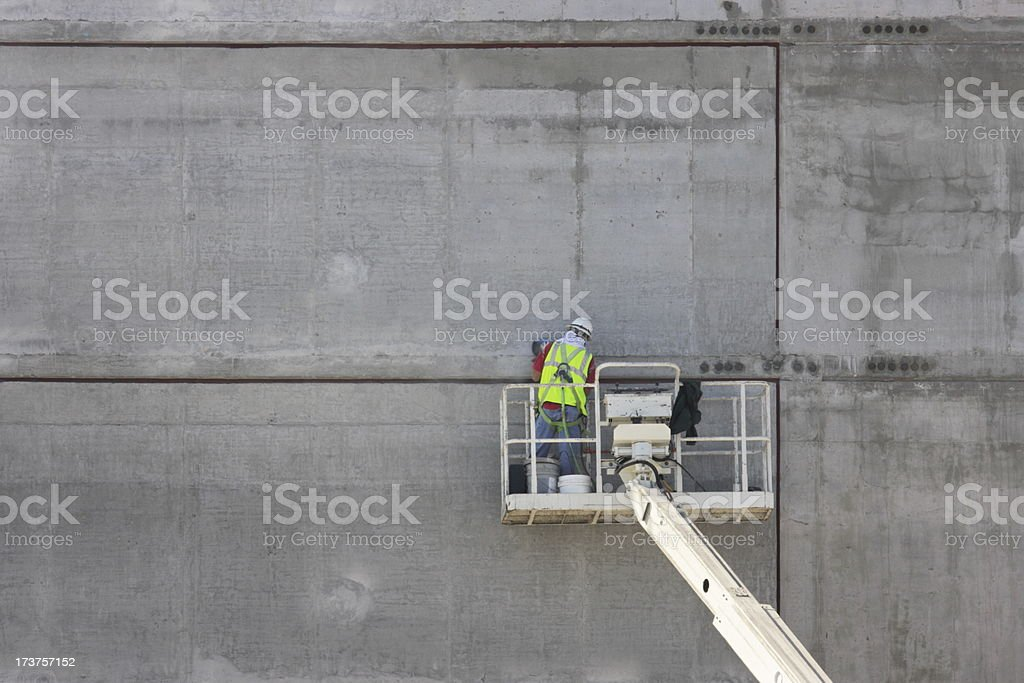 Concrete Worker Construction Equipment royalty-free stock photo