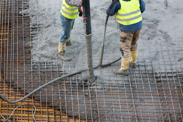 concreting stock photo