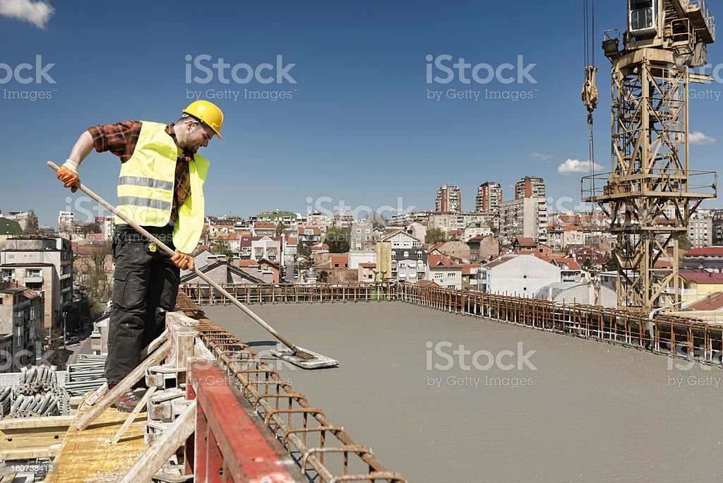 Concreting royalty-free stock photo