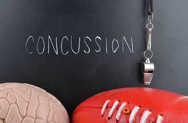 Concussion stock photo