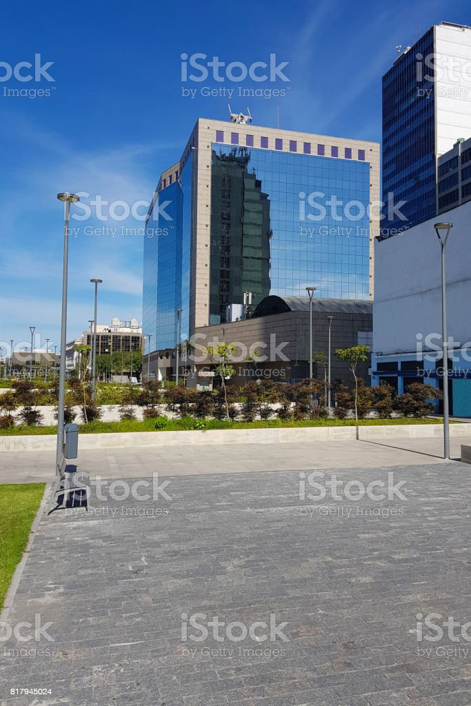 Conde Way, the new downtown Rio de Janeiro stock photo