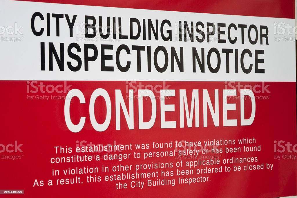 Condemned Sign stock photo