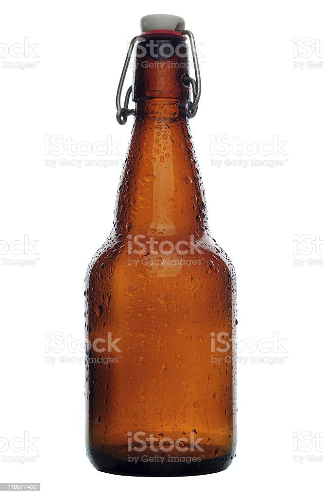 Condensation on a bottle of beer royalty-free stock photo