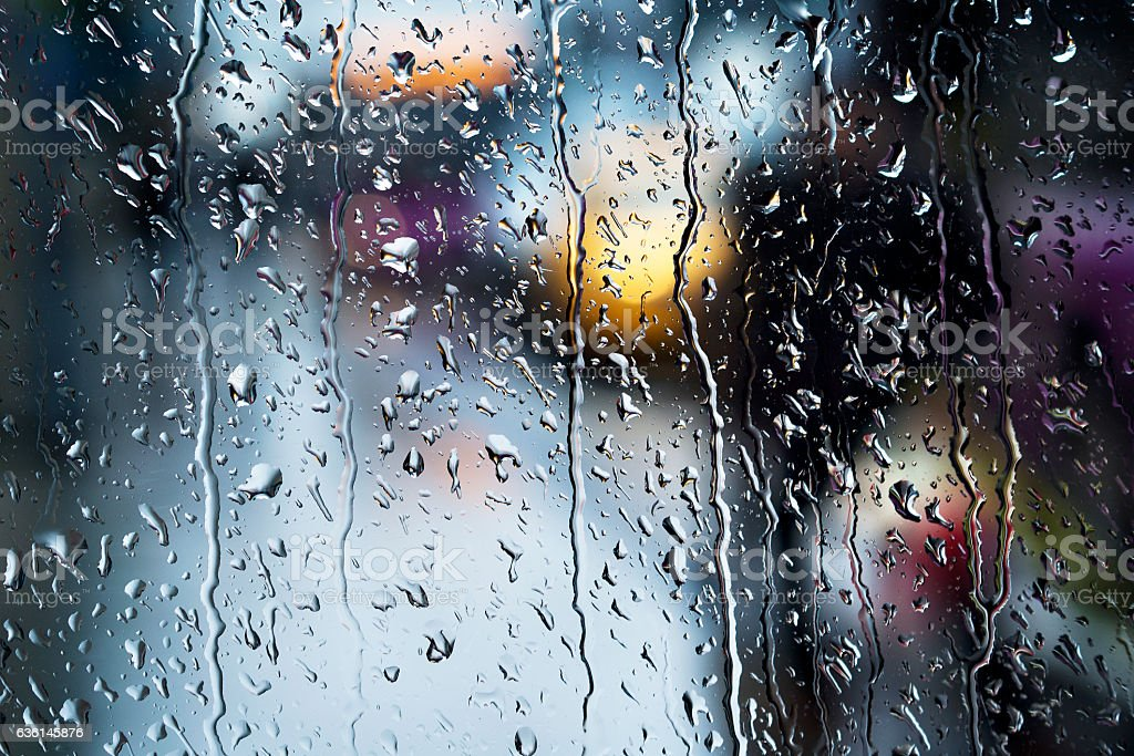 Condensation on a windowpane,Raindrop,Bubble - foto de stock