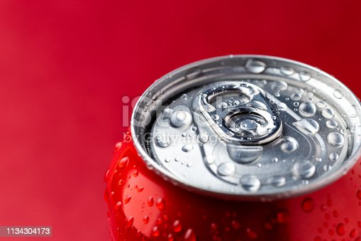 istock Condensation on beverage aluminium can 1134304173
