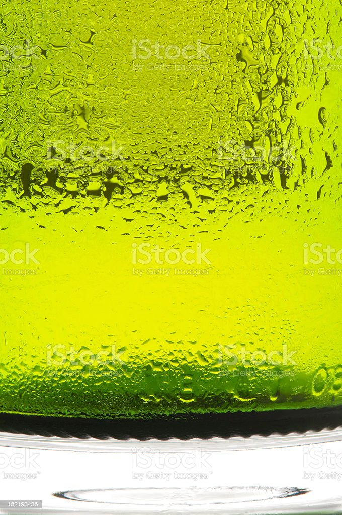Condensation on bottle royalty-free stock photo