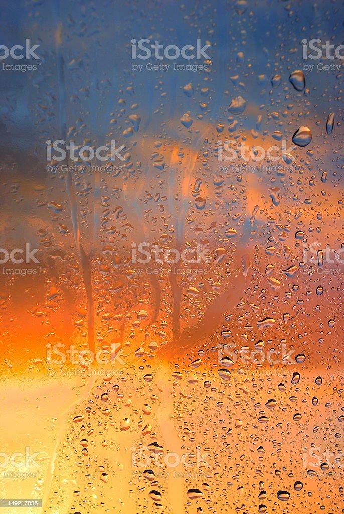 Condensation on the window stock photo
