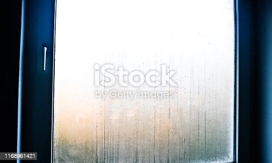 656168432 istock photo Condensed water on a glass window 1168961421