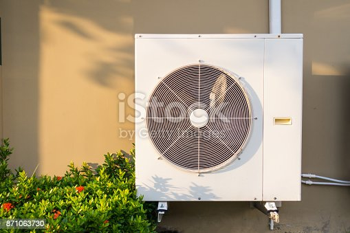 871063730istockphoto Condenser and fan of air compressor 871063730