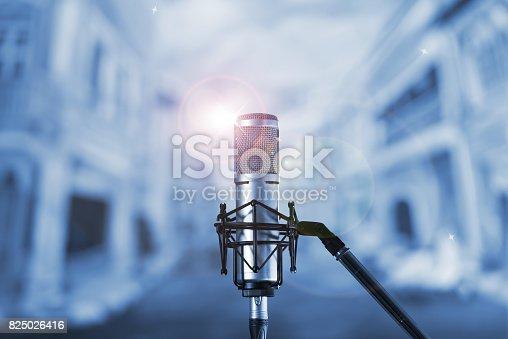 istock Condenser microphone 825026416