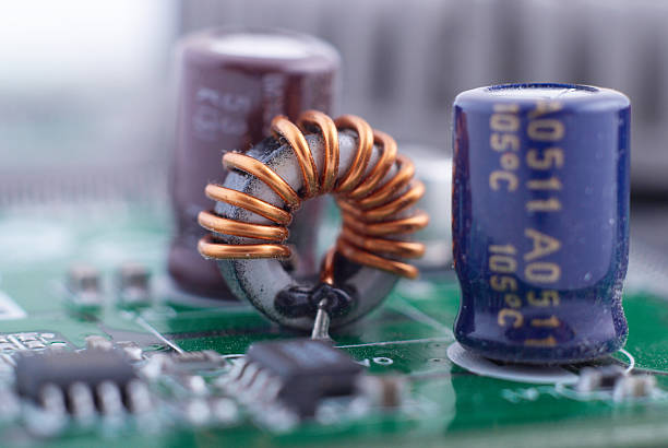 condensers and inductance - capacitor stock photos and pictures