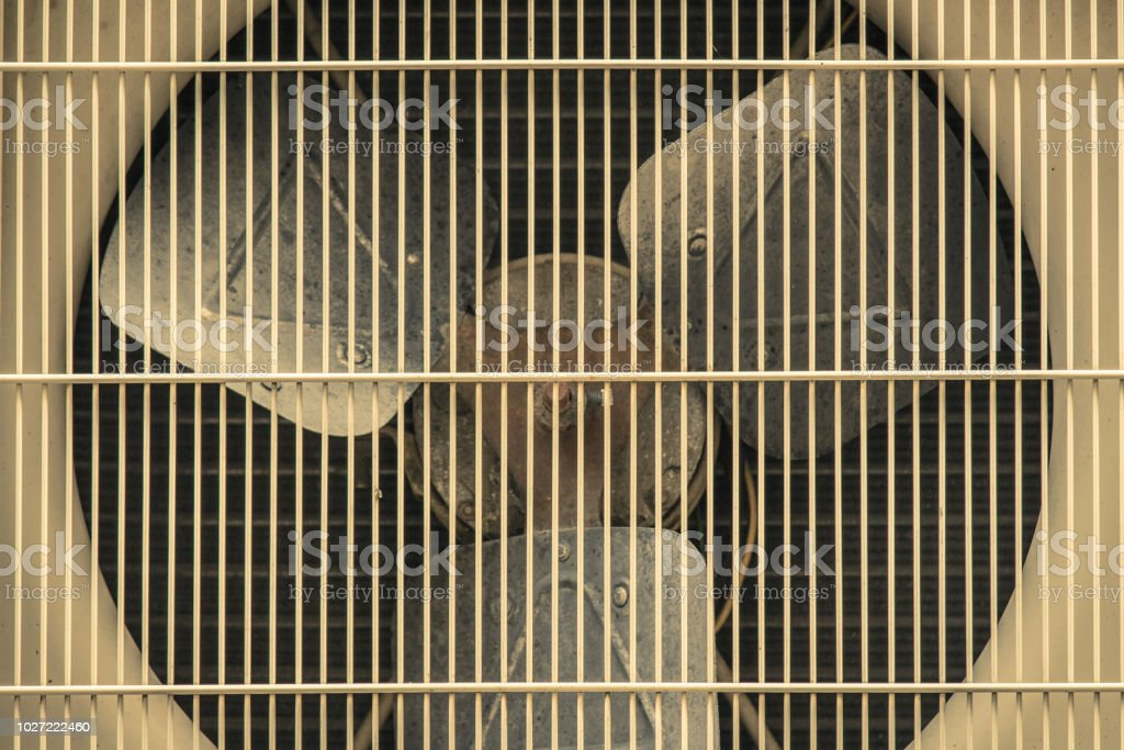 Condensing Unit of air condition stock photo